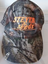 Vitg.Steyer Seeds, Camoflauge Snapback baseball cap, Mesh Orange embroidery logo