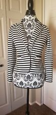 Charlotte Russe, Womens/Juniors Blazer,  Black & White Striped, Small, NWT