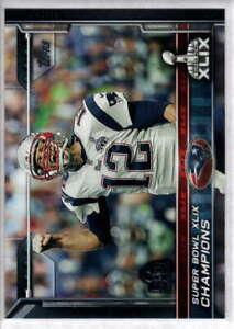 2015 Topps Super Bowl 50 Stamp #302 New England Patriots Tom Brady Card ID:10498
