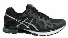 Asics Gel-Defiant Black Silver Low Lace Up Mens Running Trainers S412N 9093