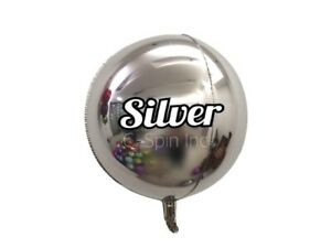 """10"""" 18"""" 22"""" 32"""" 4D Round Sphere Foil Balloons Mylar Balloons Party Birthday Baby"""
