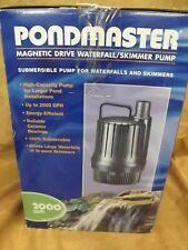 NEW Pondmaster Model 02650 Skimmer Pump 2000 gph Magnetic Drive Waterfall Pump