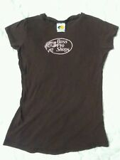 brown black pink t shirt bass pro, fishing, dark