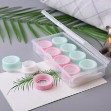 7 Pack / Set Contact Lens Cases Travel Storage Box Tweezers Stick Lens Holder