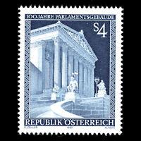 Austria 1983 - 100th Anniv of the Parliament Building Architecture - Sc 1261 MNH