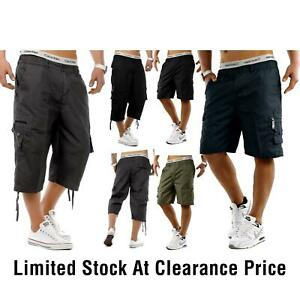 Mens Elasticated Cargo Shorts Casual Summer King Big Sizes M-6XL - Limited Stock