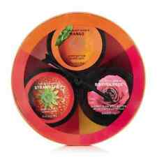 The Body Shop Dial-A-Flavour Body Butter Trio Spinner STRAWBERRY, MANGO, ROSE