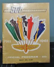 1961 Indianapolis Indy 500 Speedway Official Auto Race Program A.J. Foyt Winner