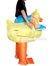 HALLOWEEN Yellow Duck Adult size Inflatable Costume Party Fancy Dress Suit
