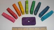 "Pine Wood Rectangles Dyed 24 Pieces 2.5"" x 1.5"" x 7/16"" Diy Bird Toy Part Parrot"