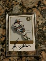 2001-02 Glenn Anderson Auto Fleer Greats Of The Game - Oilers Great!