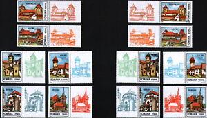 12 STAMP+12 Vignettes Left&Right=2 FULL SET/ ROMANIA 2002 Saxon Fortresses/ MNH
