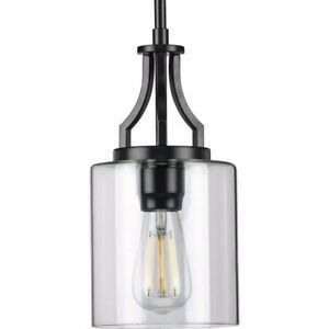Lassiter 1-Light Black Mini-Pendant by Progress Lighting