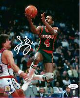 1980's BUCKS Sidney Moncrief signed 8x10 photo JSA COA AUTO Autographed HOF 2019