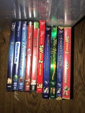 Lot of 10 Disney DVDS Toy Story 2+snow White Sword Stone 101 Dalmatians Beauty