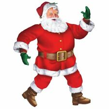 Classic Santa Jointed Cut-out Decoration Party Accessory 1m