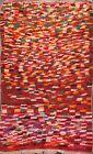 Geometric Semi Antique Modern Moroccan Oriental Area Rug Plush Wool Handmade 4x6