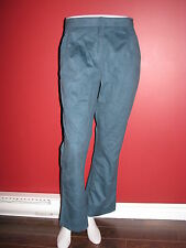 CATHERINE STEWART for BellePointe Women's Suede-like Teal Blue Pant - Size 8 NWT