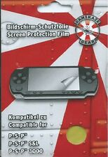 Sony PSP / PSP Slim & Lite, PSP 3000, PSP 1000 E `Bildschirmschutzfolie` Neu/OVP