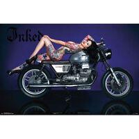 Inked Magazine - Bike POSTER 57x86cm NEW * Tattoo Sexy Girl Pin Up Motorbike