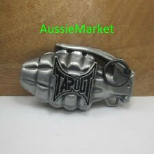 1 x mens belt buckle metal jeans tap out grenade weapon fathers day tapout new