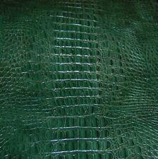 77 sf. 4 oz. Green Crocodile Alligator Print Cow Hide Leather Skin Cf3K -n