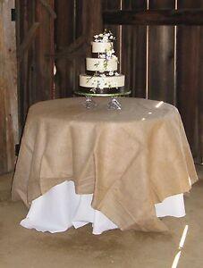 """15 Lot 54""""×54"""" Burlap Tablecloths Overlays Seamless Wedding 100% Natural Jute"""