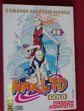 NARUTO GOLD- N°6-  DI:MASASHI KISHIMOTO- MANGA PANINI- esaurito raro