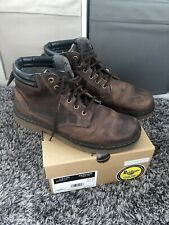 Mens Brown Leather Dr Martens Boots Tipton Size 9.5uk
