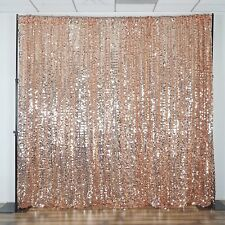 20FT Blush Big Payette Sequin Sheer Curtain Backdrop Wedding Party Photo Booth