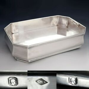 Large Art Deco French Sterling Silver Table Centerpiece Jardiniere Bowl