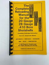 New ListingLoads Books Complete Reloading Manual 20g 28g And .410 Shotshells