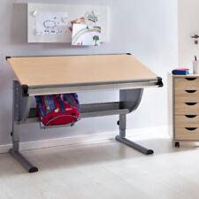 Schreibtisch Kinderschreibtisch MARWIN 120 x 60 cm Grau / Buche