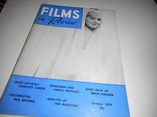 Films In Review Magazine October 1959 May Britt Janet Gaynor Erick Pommer