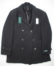 New Ralph Lauren Labrada Peacoat 44R / XL Black WOOL Blend NWT #4291