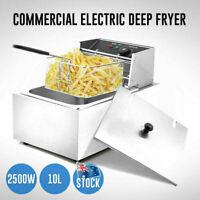 Deep Fryer 10L Commercial Bench Top Fast Fryer Stainless Steel AU 2500W Electric