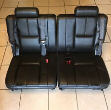 2007-2014 FACTORY 3RD ROW SEATS BLACK LEATHER TAHOE SUBURBAN YUKON XL ESCALADE