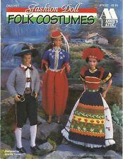 Fashion Doll Folk Costumes Crochet Thread Patterns Juanita Turner 1996 NEW