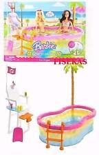 Barbie Beach Party Pool Playset Bird Lifeguard Chair Set 2008 N4949 NEW