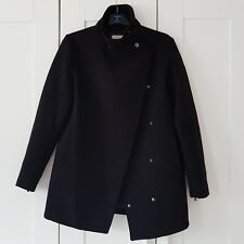Mango Black Funnel Neck Coat Size S