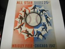 1947 MLB BASEBALL ALL STAR GAME PROGRAM DECENT CONDITION CHICAGO CUBS WRIGLEY