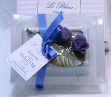 Le Blanc Violet Soap & glass Dish Savon . New