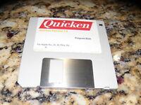 """Quicken Version 1.0 Program Disk Apple IIGS, IIc Plus, IIe 3.25"""" disk"""