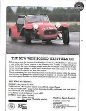 WESTFIELD SPORTS CARS WIDE BODIED SEi MODEL KIT CAR 'BROCHURE' SHEET 1980's-90's