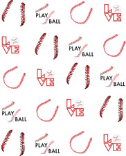Baseball Seams/ Stitching Waterslide /Water Transfer Nail Decals/Nail art
