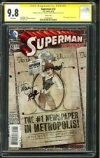 Superman 32 CGC 2XSS 9.8 1st John Romita Lucia Bombshells Variant Signed 2014