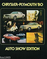 1980 CHRYSLER-Plymouth Brochure:VOLARE,CORDOBA,LeBARON,NEWPORT,NEW YORKER,Fifth