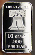USA 10 gram .999 Fine Silver Commemorative Bullion 'Liberty Bell' - Sealed & UNC