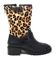Logo by Lori Goldstein Womens Short Shaft Novelty Moto Boots Leopard Size 8.5 M