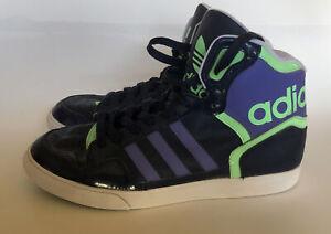 Adidas Women Extaball High Top Basketball Sneakers M19459 Blue Purple Green 7.5